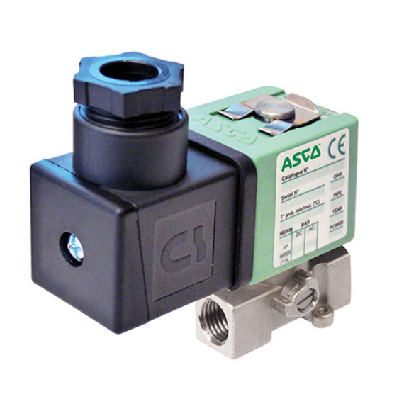 Compact Solenoid Valves Brass Stainless Steel 256 ASCO
